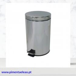 Papeleira Inox com pedal 12lts